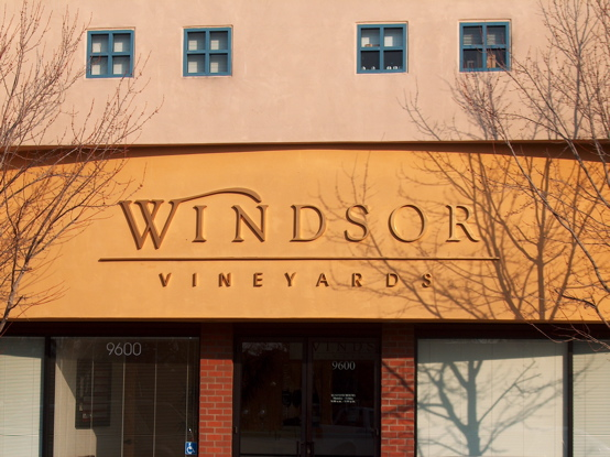 Windsor Vineyards cut out urathane letters with automotive paint