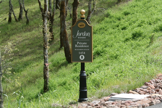 Jordan Winery aluminum & urathane directional all painted with an automotive finish 