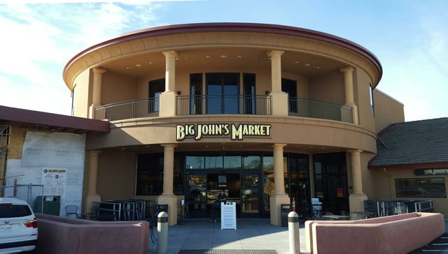 "The ""new"" Big John's Market has these awesome 3 dimensionally carved urethane letters with 23K gold leaf."