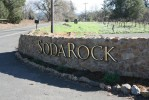 3-D urathane & aluminum letters pin-mounted to rock wall