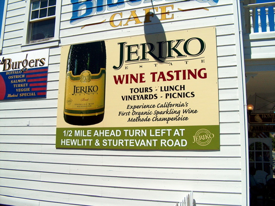 Jeriko Billboard covered with a digital print.  