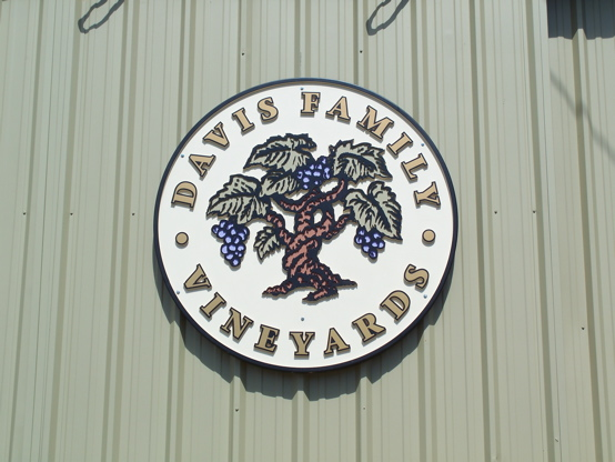 Davis Family Winery 2D carved urathane hand painted with 