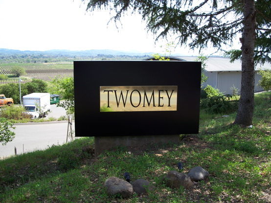 Twomey aluminum box with brass covered alum pan & plex letters