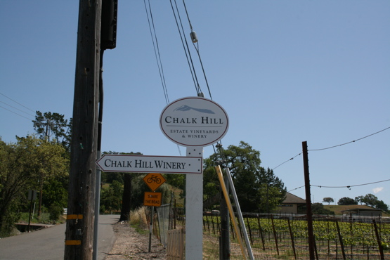 Chalk Hill Winery street signs made of aluminum